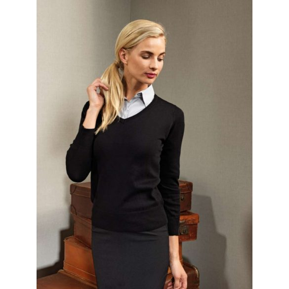 Premier PR696 LADIES' V-NECK KNITTED SWEATER