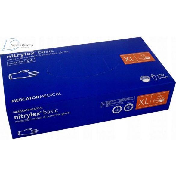 Manusi de unica folosinta nitril Nitrylex pentru examinare si uz medical fara pudra - XL 100buc