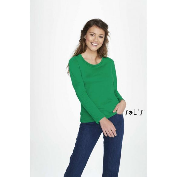 Sol's SO11425 MAJESTIC - WOMEN'S ROUND COLLAR LONG SLEEVE T-SHIRT
