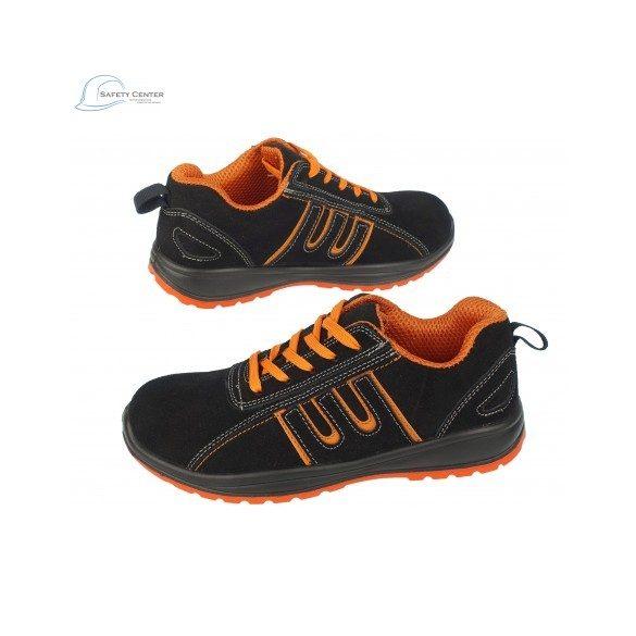 Urgent 216 S1 Pantofi de protectie cu bombeu metalic,din piele caprioara